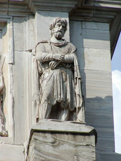 Dacian prisoners on the Arch of Constantine