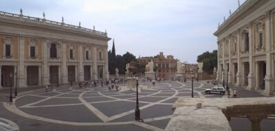 Panorama view of the Piazza del Campidoglio