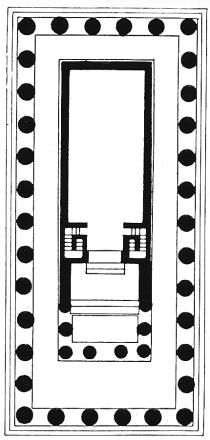 Plan of the Temple of Athena in Paestum