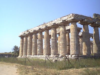 The Temple of Hera I, 550 BCE, in Paestum