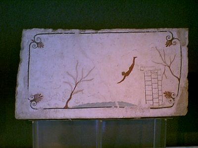 Archaeological Museum of Paestum - The Tomb of the Diver