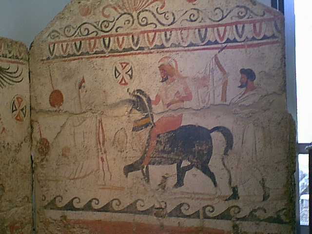 Archaeological Museum of Paestum - Lucanian painted tomb