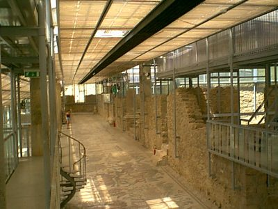 Villa Romana del Casale - The Great Corridor with the visitors platforms
