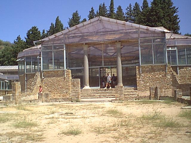 Villa Romana del Casale - The triclinium from the outside
