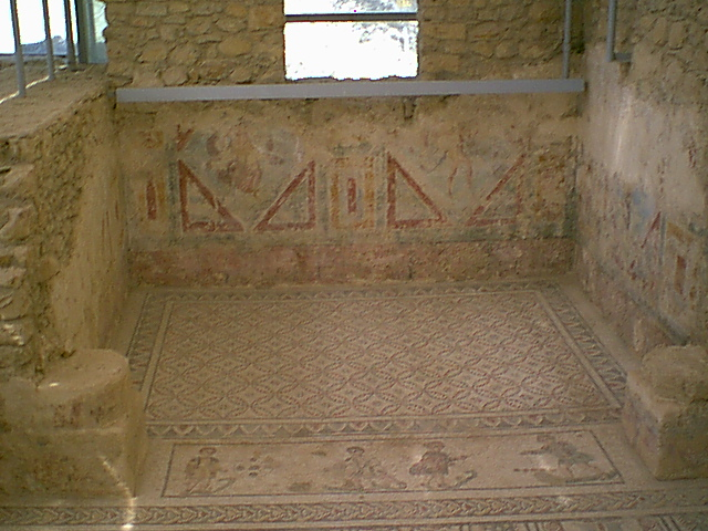 Villa Romana del Casale - Wall-paintings in the Cubicle with Erotic Mosaic