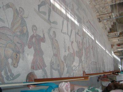 Villa Romana del Casale - Detail of the mosaic