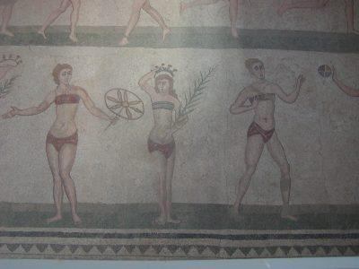 Villa Romana del Casale - The famous Girls in Bikini mosaic