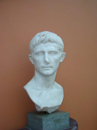 Portrait of Octavian, later Augustus, in the Ny Carlsberg Glyptotek