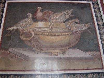 Mosaic with Drinking Doves