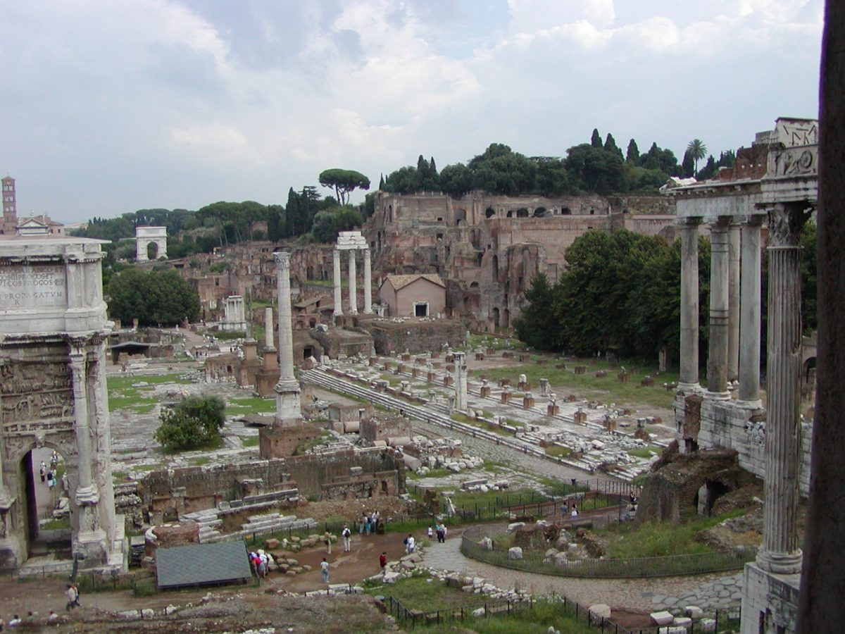 View of the Forum Romanum from the Tabularium