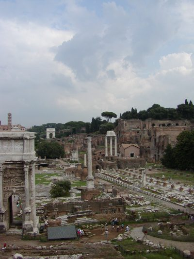 The Roman Forum seen from the Tabularium
