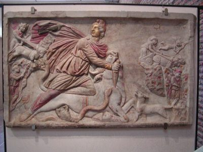 Mithras slaying the bull - relief in the Terme di Diocleziano