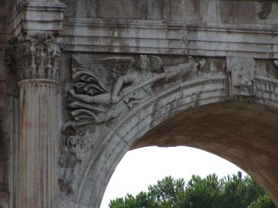 Arch of Constantine - central archway, north face, left