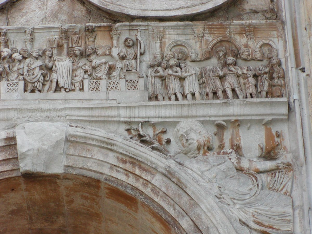 Arch of Constantine - Main frieze, north side, left