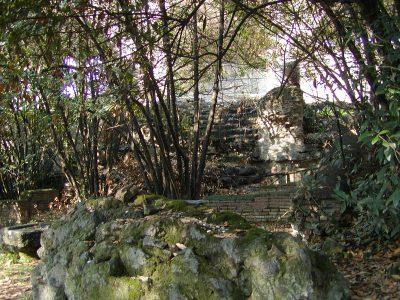 Basilica of Maxentius - overgrown ruins