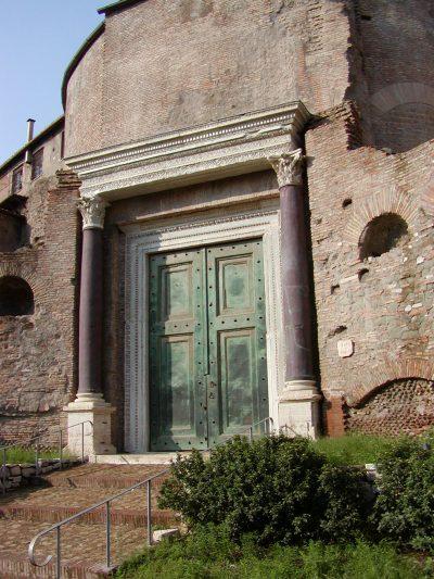 Forum Romanum - Entrance to the Temple of Romulus