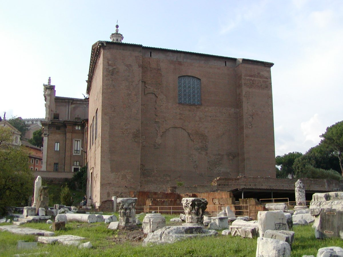 The Curia Julia in the Forum Romanum