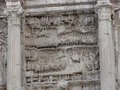 Arch of Septimius Severus - the war against the Osroeni