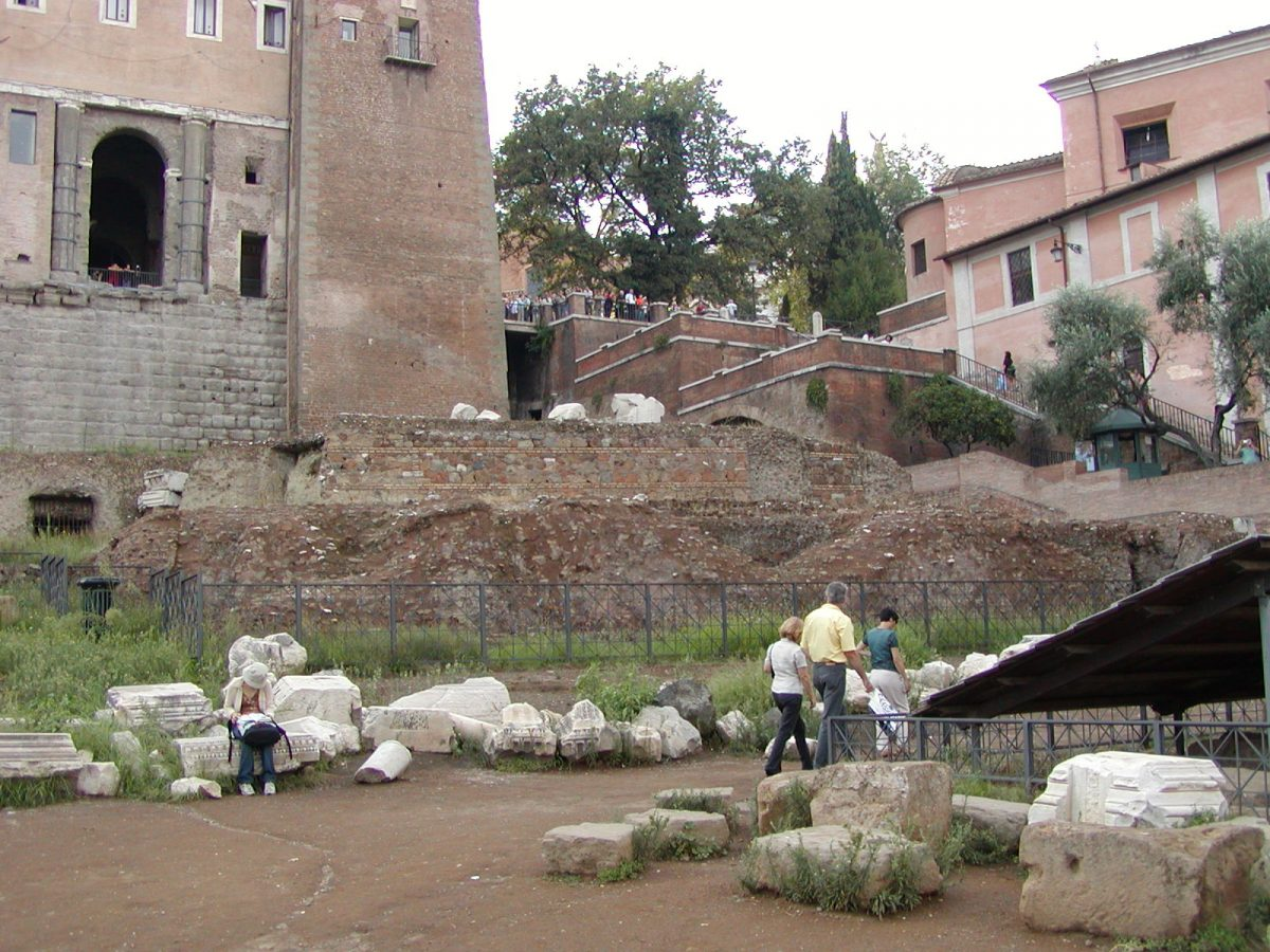 The scarse remains of the Temple of Concord in the Forum Romanum