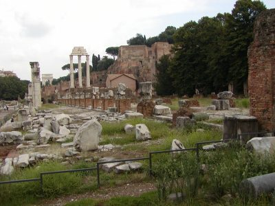 The remains of the Basilica Julia in the Forum Romanum