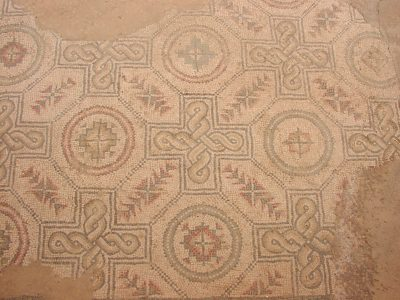 Villa Romana del Casale - Geometric mosaics in a service room