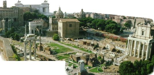 The Forum Romanum seen from the Palatine Hill