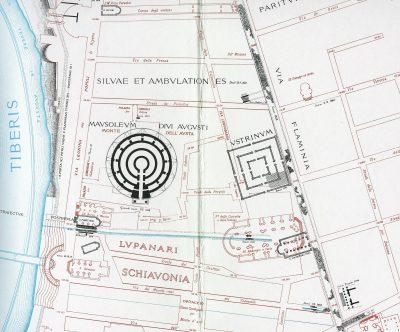 Lanciani: Forma Urbis Romae - 08-CC-mausoleum-aug