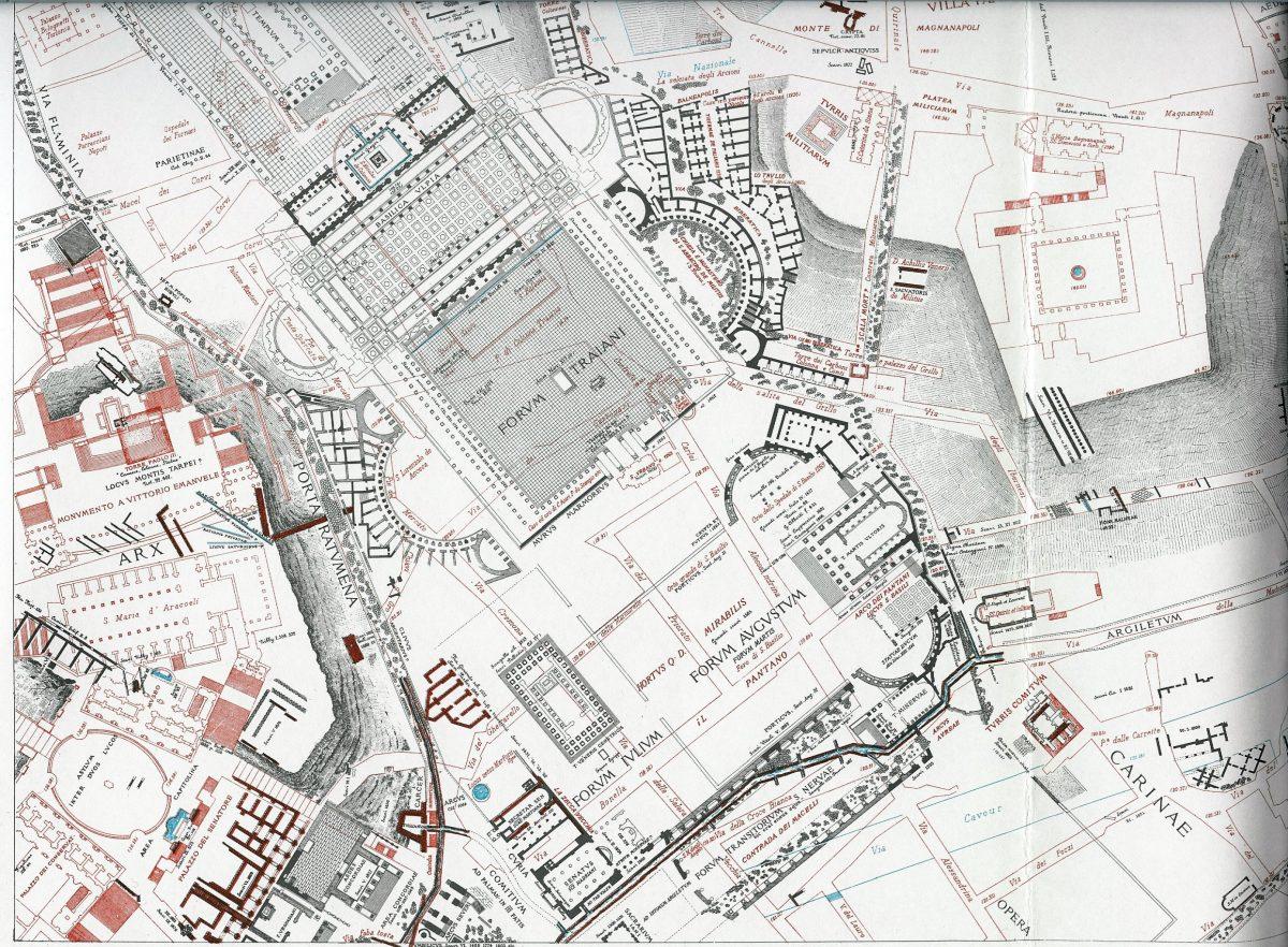Lanciani: Forma Urbis Romae - 22-LL-fori-imperiali