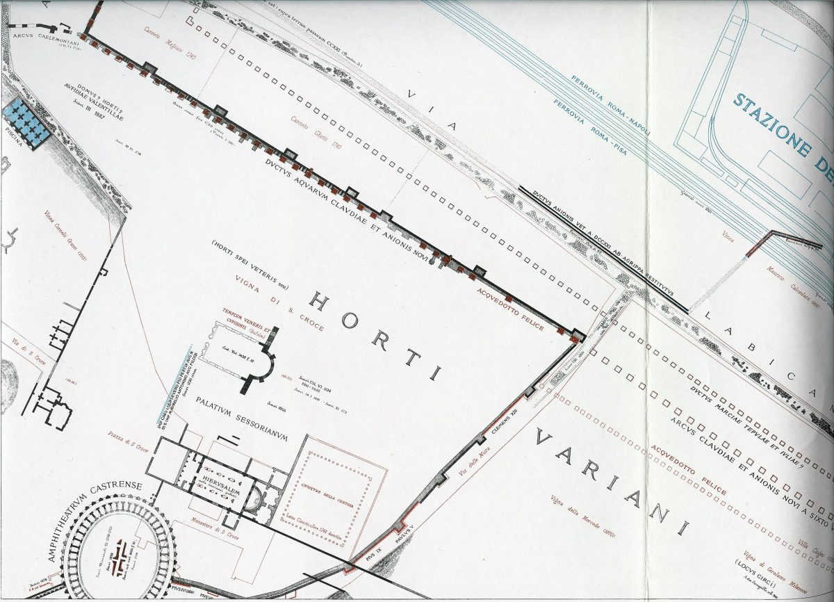 Lanciani: Forma Urbis Romae - 32-LL-sessorianum