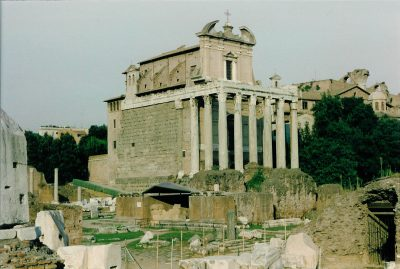 The Temple of Antoninus and Faustina in the Forum Romanum